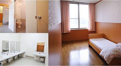 全室が空調完備の個室